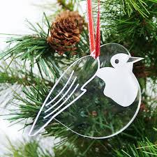 robin tree decorations robin laser cut