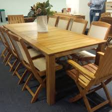 contemporary teak and stainless steel dining table mecox gardens