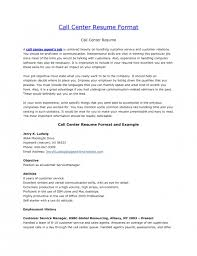 resume job objectives the brilliant sample resume for call center job resume format web