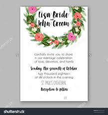 Bridal Invitation Cards Wedding Invitation Printable Template With Floral Wreath Or