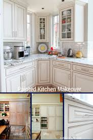 Repainting Cabinets Sunny Painting Kitchen Cabinets White Before And After