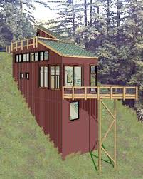 Hillside Cabin Plans Pictures On House Plans For Downward Sloping Lots Free Home