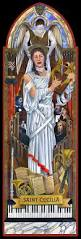 religious iconography fourth wall murals we also offer saint cecilia as a small framed print through our store at cafepress ideal for your parish office or your own musical sanctuary at home