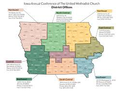 map us iowa iowa conference map of districts