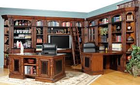 parker house leonardo library wall with entertainment unit and