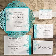 invitation kits blue swirl laser cut wedding invitation kits ewws115 as