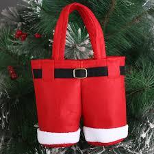 christmas tree santa pants gift and treat candy bags for xmas