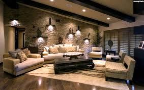 Wohnzimmer Design Schwarz Wandgestaltung Steinoptik Schwarz