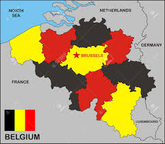 Map Of Belgium And France by Political Map Of Belgium Country With Flag Stock Photo Picture