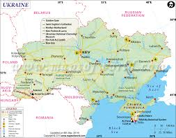 Map Of Europe And Capitals by Ukraine Map Map Of Ukraine