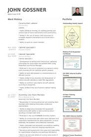 Construction Worker Resume Examples And Samples by Laborer Resume Samples Visualcv Resume Samples Database