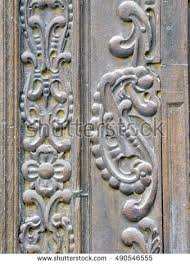 carved wooden door panel stock images royalty free images