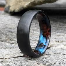 carbon fiber wedding band sleek modern carbon fiber ring custom made wedding ring for