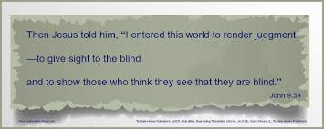 free bible study of the gospel of the blind can see