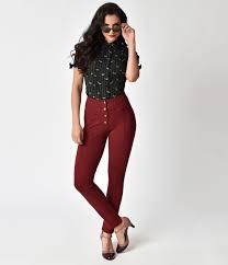 women u0027s 1950s pants cigarette capri jeans fashion history