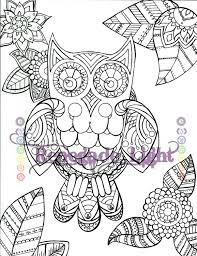 zentangle owl coloring book owl paisley owl coloring