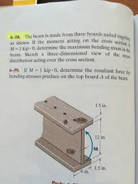 the beam is made from three boards nailed together chegg com