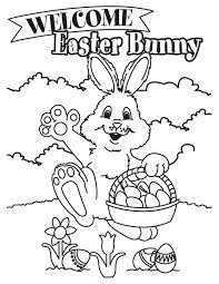 latest easter bunny coloring easter bunny
