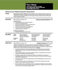 Resume Examples Entry Level by In Writing Entry Level Administrative Assistant Resume You Need