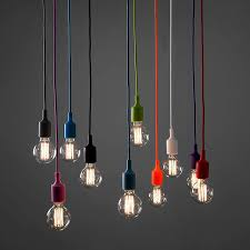 single light bulb with cord diy 13 colorful optional collocation silicone braided single