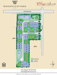 Washington Park Map by Site Plan Washington Park By Belaggio Homes