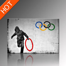 hanging canvas art without frame 2018 olympic banksy artwork canvas art prints poster art print home