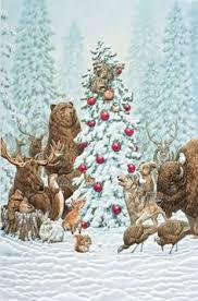 pumpernickel christmas cards pumpernickel press pack of 16 napping fox embossed deluxe