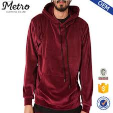 oem best price men red velour hoodie tracksuit buy velour hoodie