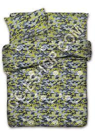 copriletti flou copripiumino matrimoniale 2 due piazze camouflage mimetico verde