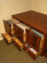 Record Storage Cabinet Custom Cherry Audio And Vinyl Record Storage Cabinet