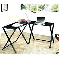 techni mobili black glass corner desk black l shaped computer desk fokusinfrastruktur com