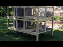 Build Your Own Rabbit Hutch Plans Canadian Rabbit Hutch 4hole Part One Youtube