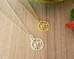 gold love pendant necklace images Gold love necklace etsy jpg