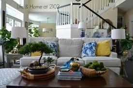 Living Room Interior Designs Blue Yellow Life U0026 Home At 2102 Blue Summer Living Room U0026 My Win