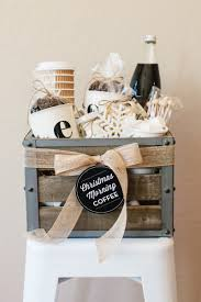 how to make gift baskets how to make a coffee gift basket the tomkat studio