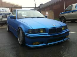 matte teal car my matte pearl blue bmw e36 318is with vaders bmw