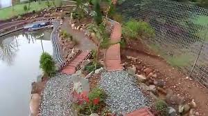 new garden train layout and r c boat pond 6 youtube