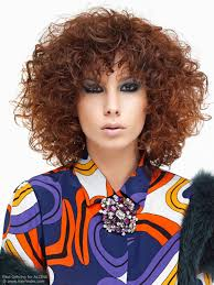 1980s inspired spiral perm hairstyle