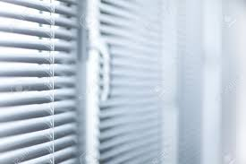 room decoration with plastic sunblinds close up stock photo
