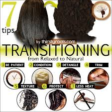 how to trim relaxed hair transitioning from relaxed to natural hair