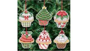 Decorate Your Own Christmas Ornament Kit by Cross Stitch Tree Skirt Kits Cross Stitch In Time