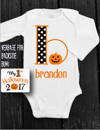 babys 1st halloween my first halloween onesie baby boy personalized pumpkin onesie