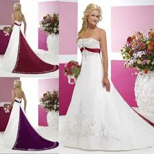 purple and white wedding purple and white wedding dresses with embroidery strapless sweep