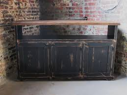 rustic media console spaces rustic with buffet distressed media