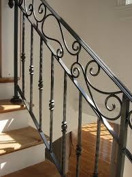interior iron stair railings best iron stair railing ideas