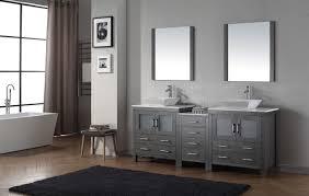 68 Inch Bathroom Vanity by Virtu Usa Dior 82 Double Bathroom Vanity Set In Zebra Grey