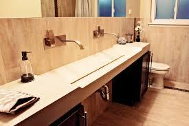 bathroom trough sink unique trough sink design for unusual contemporary bathroom also