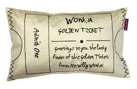 what colour paper did roald dahl write on roald dahl golden ticket gold cushion departments diy at b q