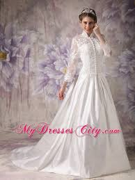 Muslim Engagement Dresses High Neck Clasp Handle Wedding Anniversary Dress With Long Sleeves