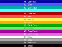 list of colours color sign help hypixel minecraft server and maps